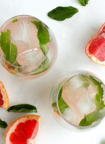 Grapefruit Mint Infused Water