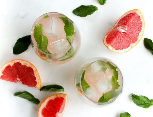 Grapefruit Mint Infused Water is healthy, refreshing and delicious