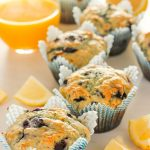 Healthy Lemon Blueberry Muffins (with yogurt!) are lovely for breakfast or snacks