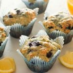 Healthy Lemon Blueberry Muffins (with yogurt!) are perfect for clean eating or just for regular baking - make your mornings delicious!