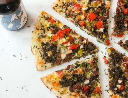 Homemade Bacon Cheeseburger Pizza is perfect for parties and potlucks