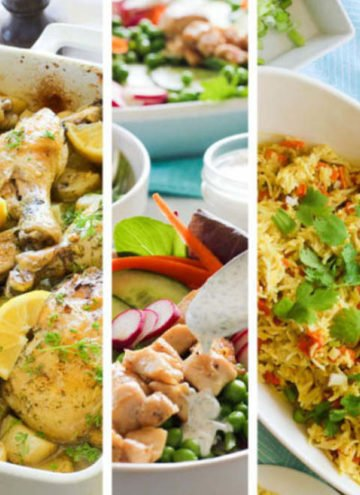 Collage of 3 different recipes.