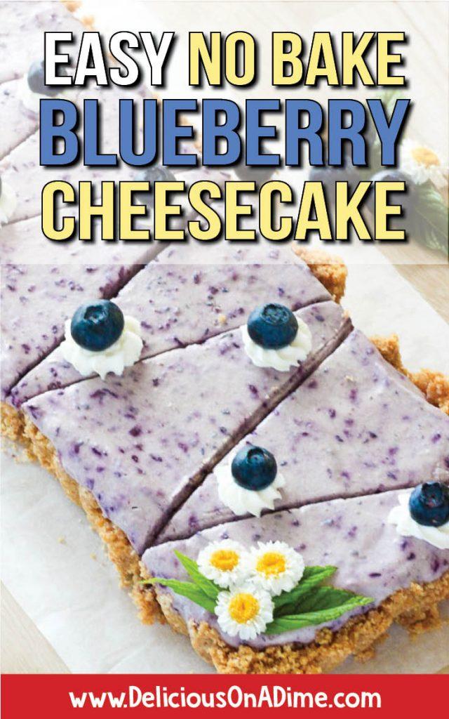 Easy No Bake Blueberry Cheesecake pin