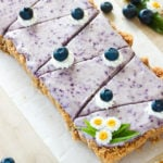 No bake blueberry cheesecake, ready to eat