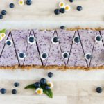 No bake blueberry cheesecake, ready to serve