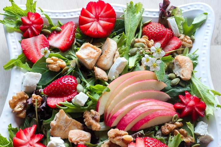 Close up view of Strawberry Chicken Salad