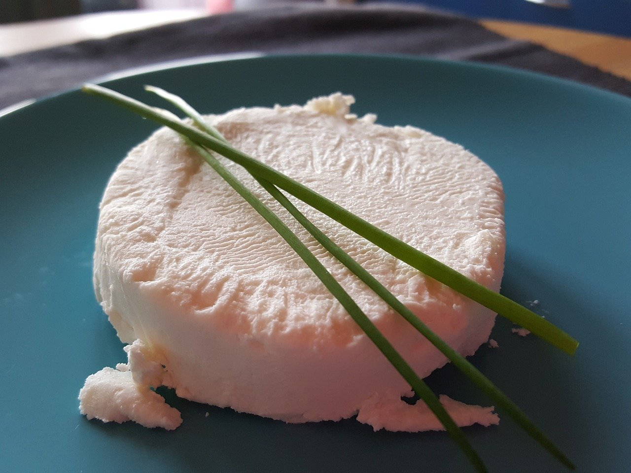 Wheel of goat cheese